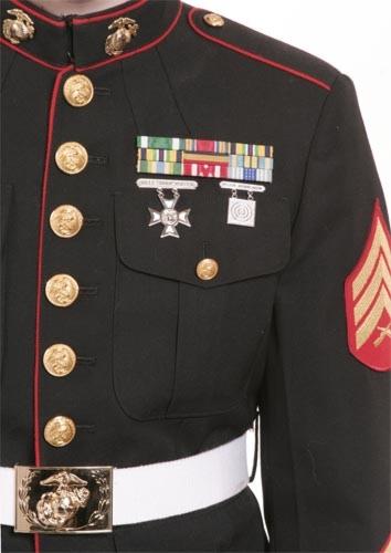 Dress blue bravos medal placement on dress